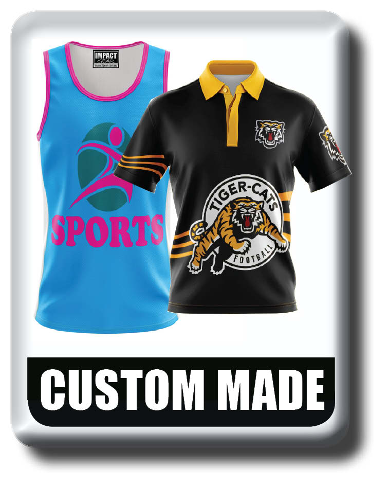 Custom Made sublimated Polo Shirts, Singlets, T-shirts Quick Dry, Cool Dry
