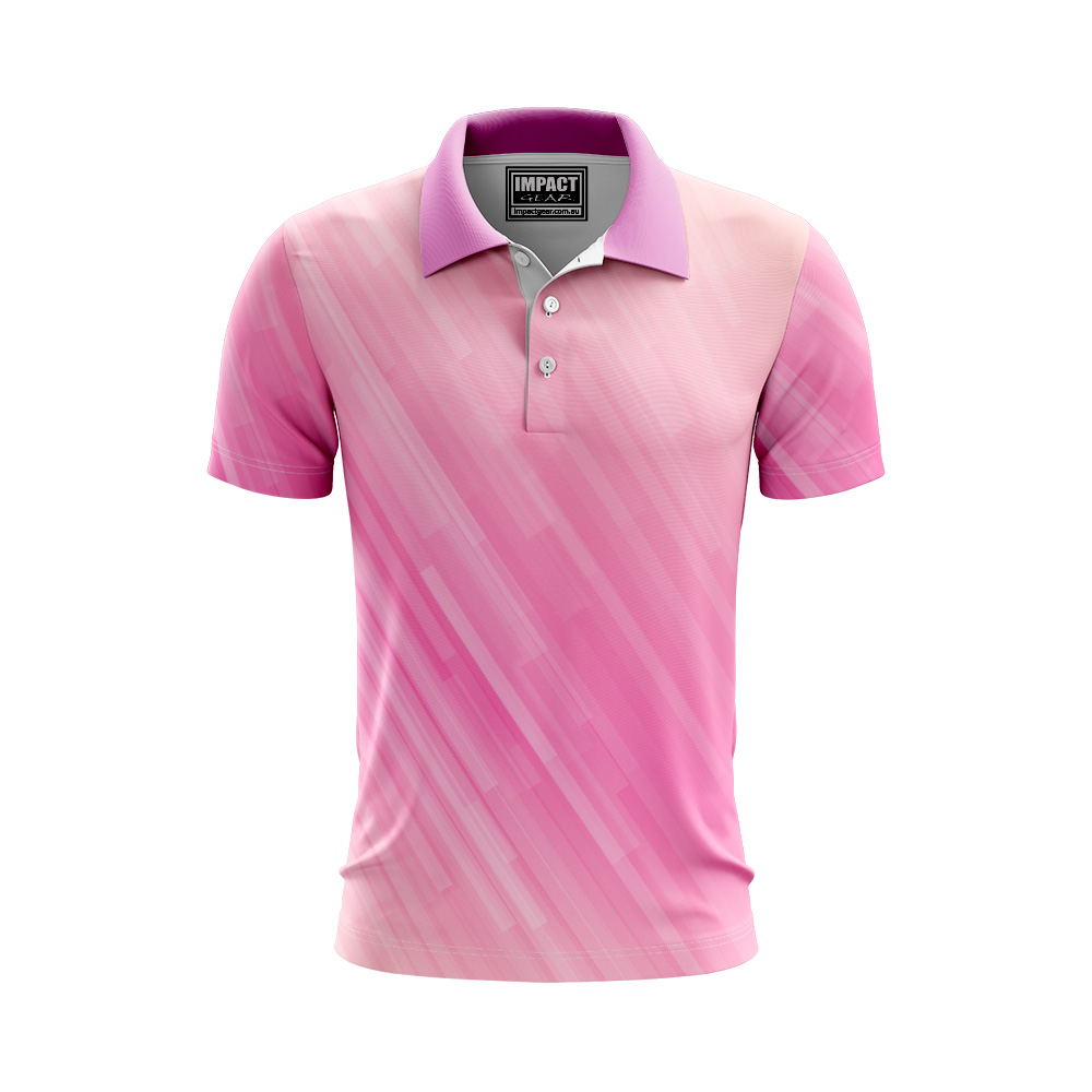 Pink White Fully Printed Cool Dry Polo shirt