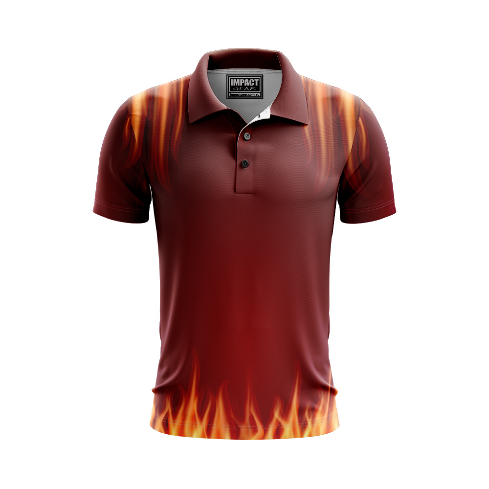 Flames Sublimated Jersey design