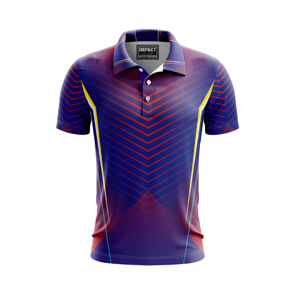 Purple Navy Red Yellow Design Sub polo shirt