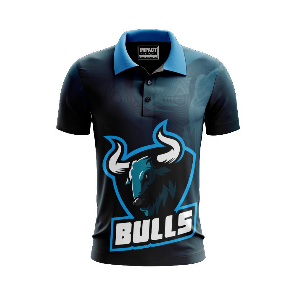 Bulls design Cusom made Jersey T-shirt Polo shirt Sublimated