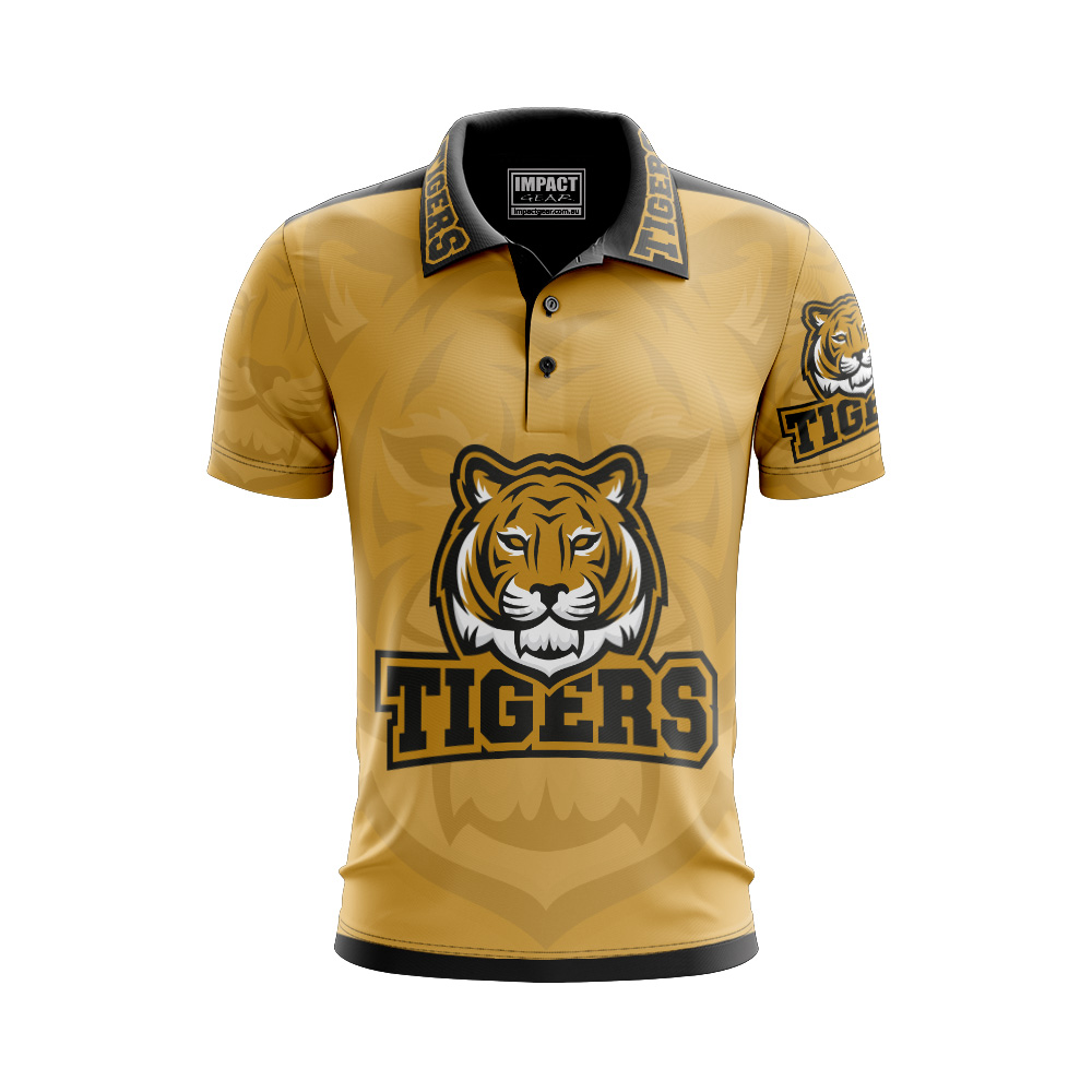 Tiger Design Sublimation Polo shirts Quick dye light weight breathable