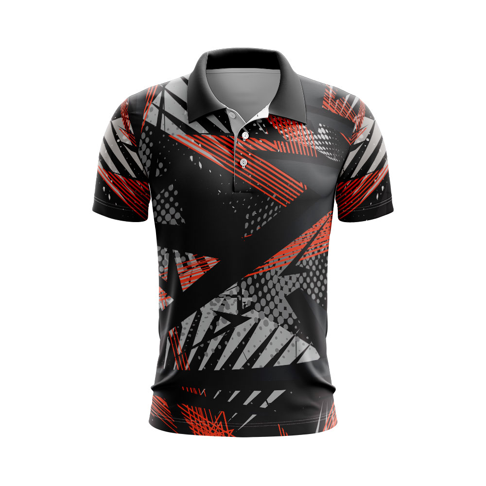 Sublimated Polo shirt Fishing Design Custom made