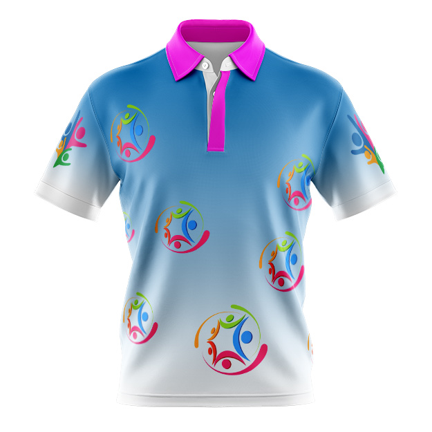 dYE sUBLIMATED Polo Shirt, DAYCARE DESIGN 1, CUSTOM MADE, LIGHT WEIGHT
