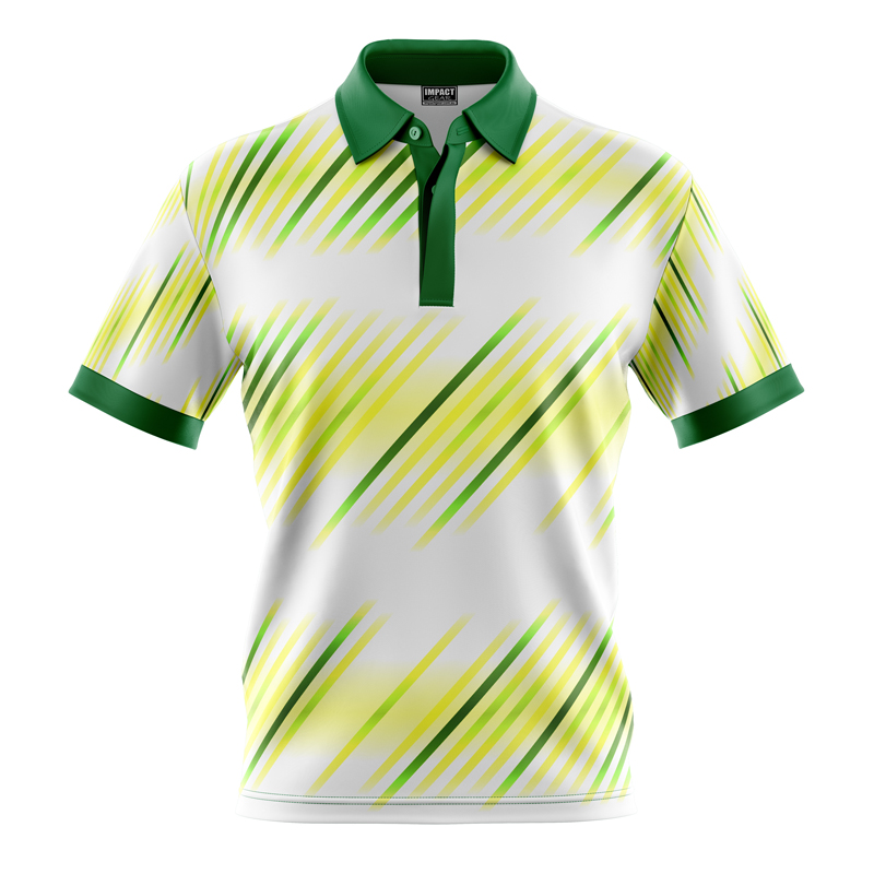Fully Dye Sublimated Polo Shirt, Great design, White , Green , Yellow, Custom made