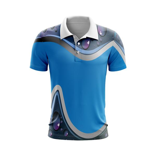 Fully Dye Sublimated Polo Shirt , Water drops design, Custom made , Australia