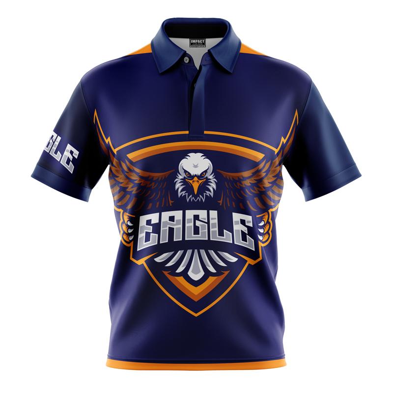 Dye Sublimated Polo shirt , Eagles Design, Custom made, Sunshine Coast.