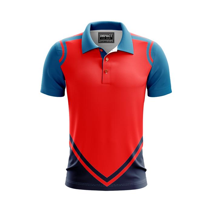 Dye Sublimated Polo Shirt, Custom made Red Blue, Australia
