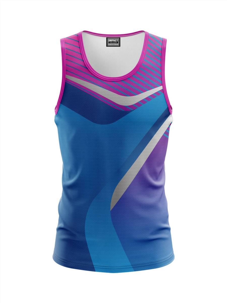 Fully Dye sublimated custom made Singlet sleeveless