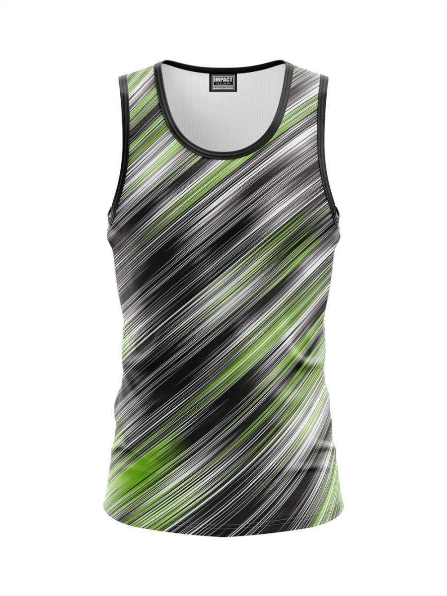 Green Black White Fully Sublimated Singlets