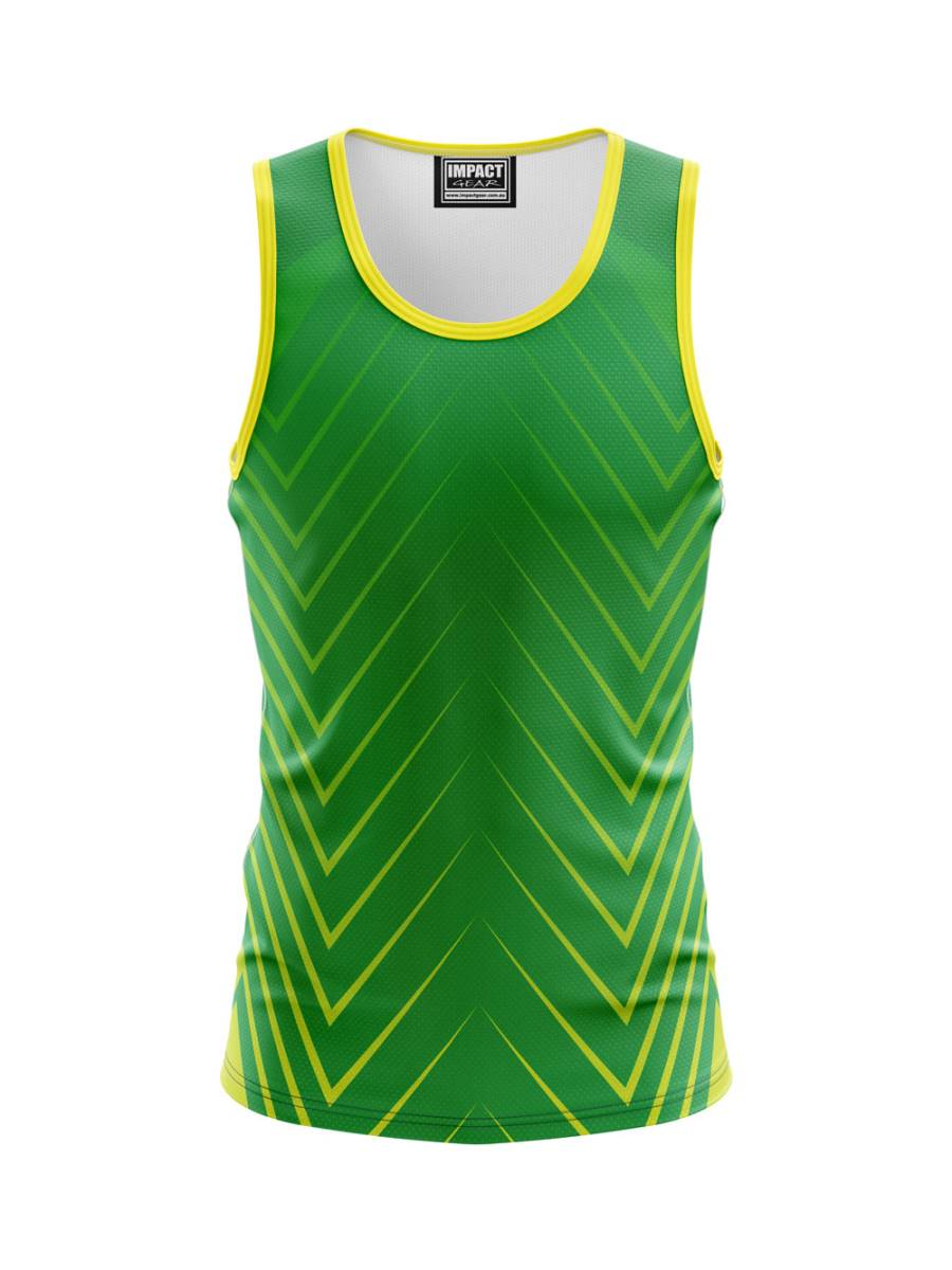 Green Gold Fully Sublimated Singlet