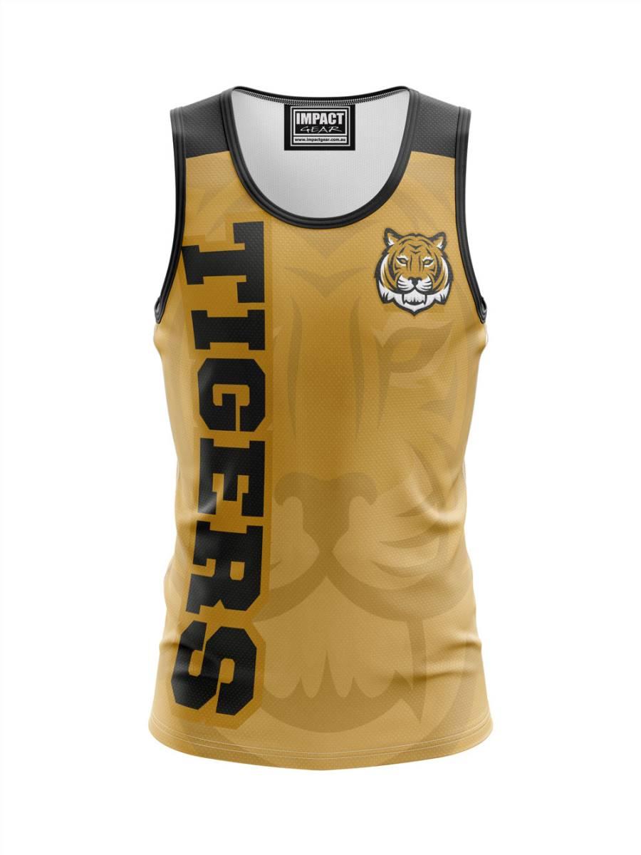 Tigers Fully Dye Sub Singlet Design, Custom made