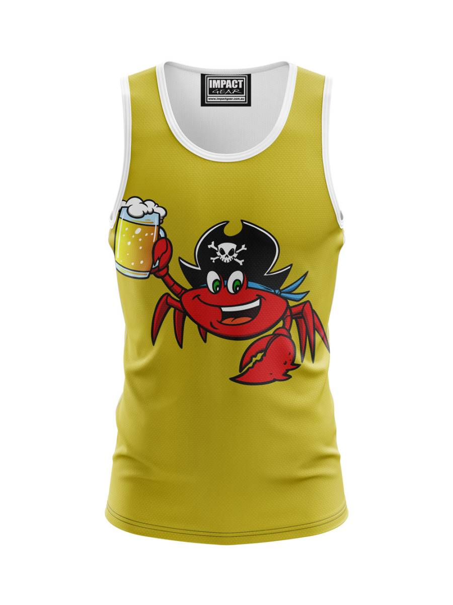 Happy Hour Crab Sublimated Singlet