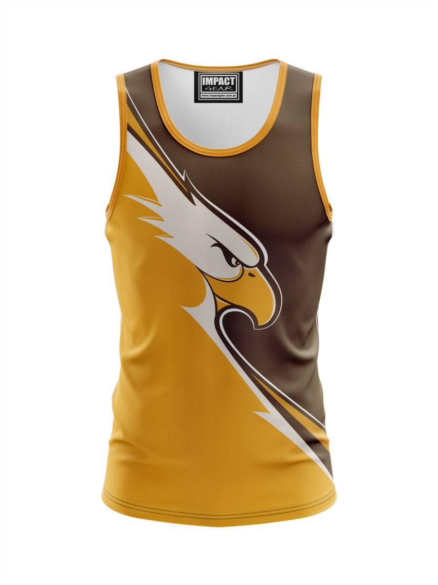 Hawks Dye Sublimated Singlet Custom Made