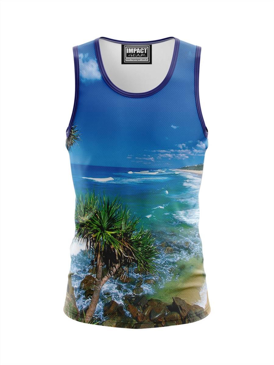 Sunny Coast Photo Fully Sublimated Polo shirt, custom made