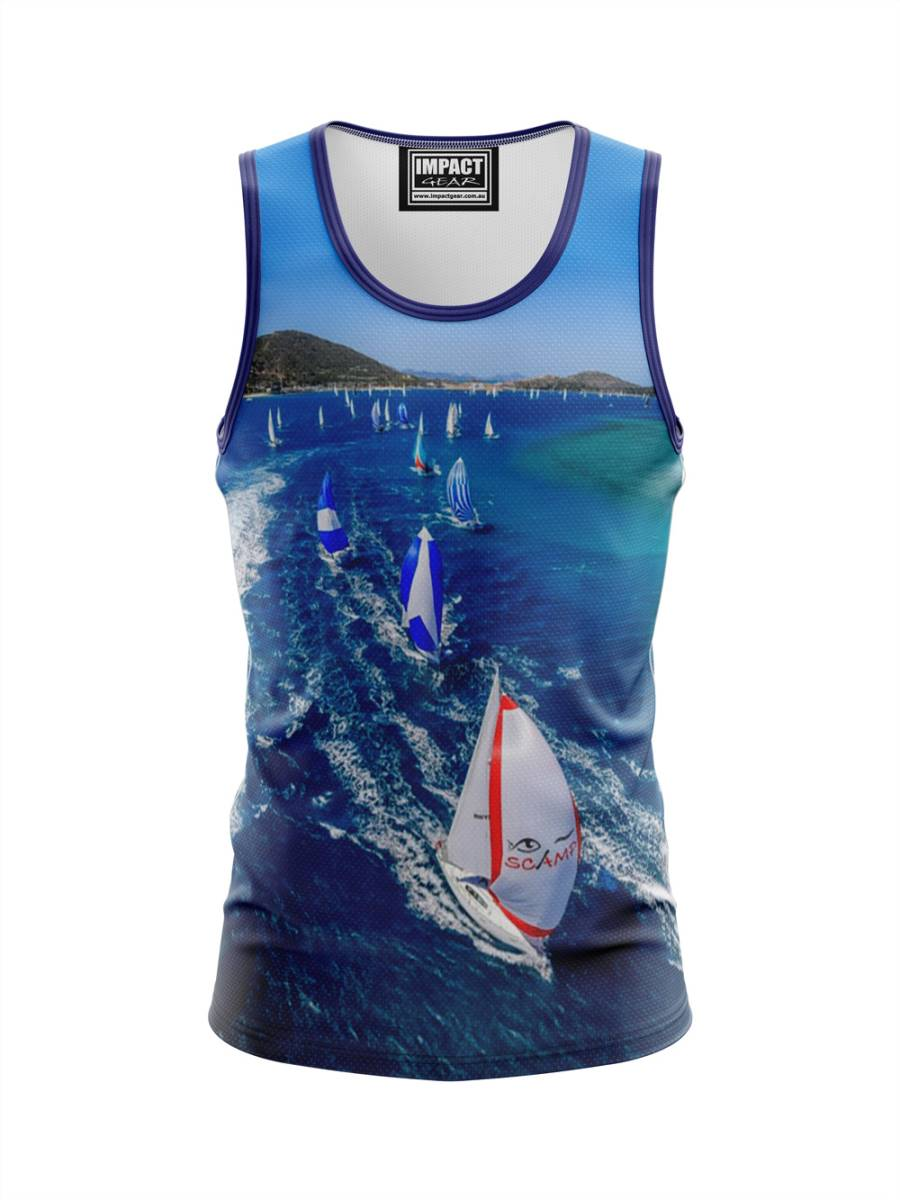 FP SSAILING Fully Dye Sub Singlet