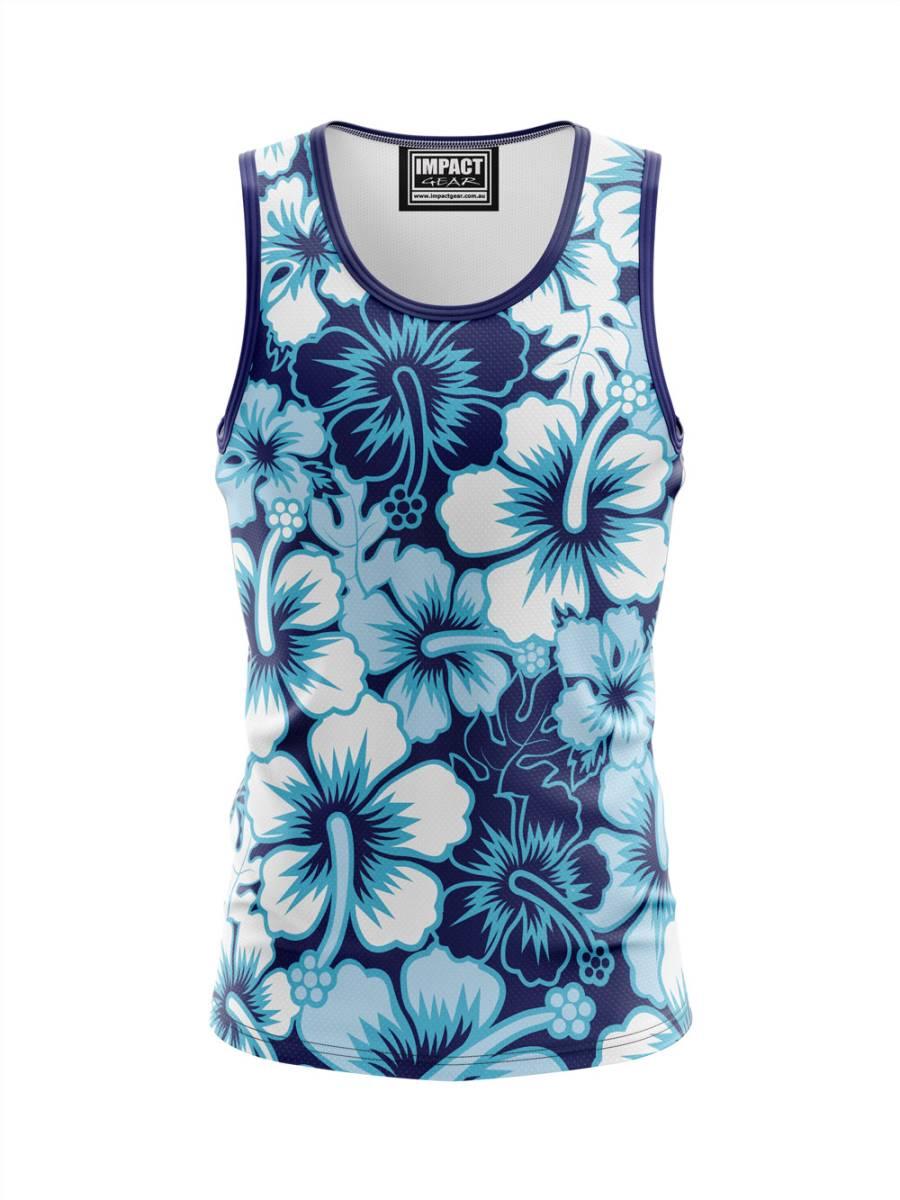 Hawaaian Blue Sublimated Singlet Design