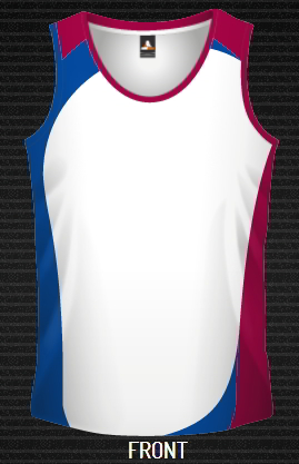 Sublimated Singlet , Arrow, DYO, Custom made, Cool Dry
