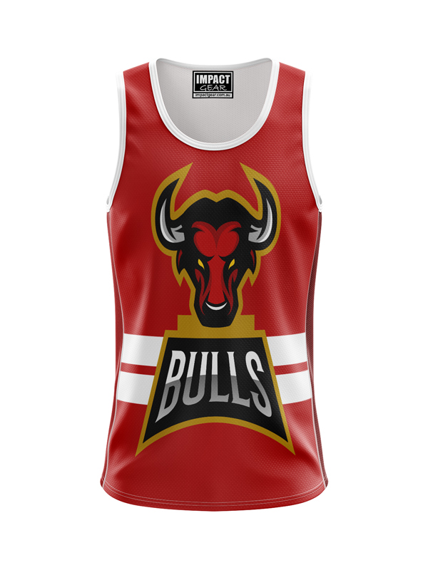 Fully Dye Sublimated Singlet BULLS