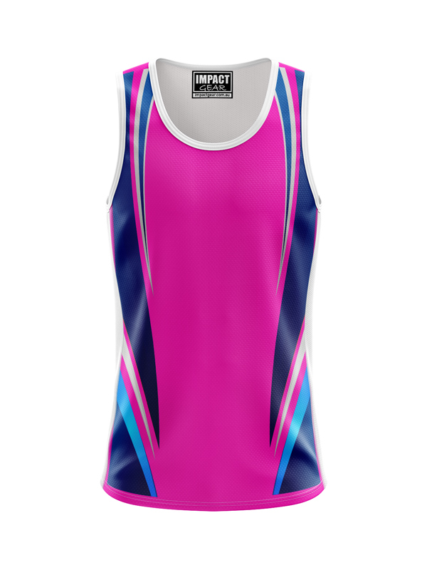 Sublimated Singlet Pink Waves
