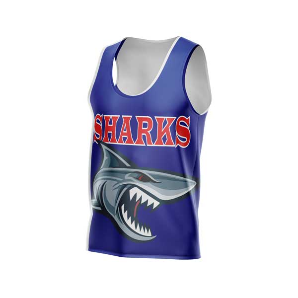 Dye Sublimated Singlet Sharks