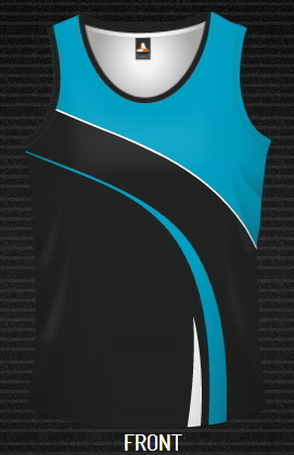 Dye sublimated Singlet , Sweeper Design, Custom made DYO