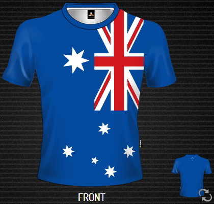 Sublimated T-shirt Aussie Flag