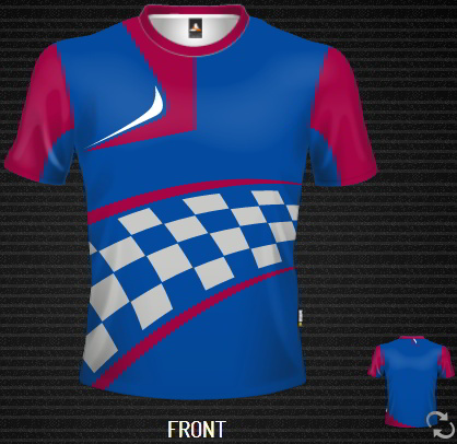 sublimated T- shirt Moto Grid Tee