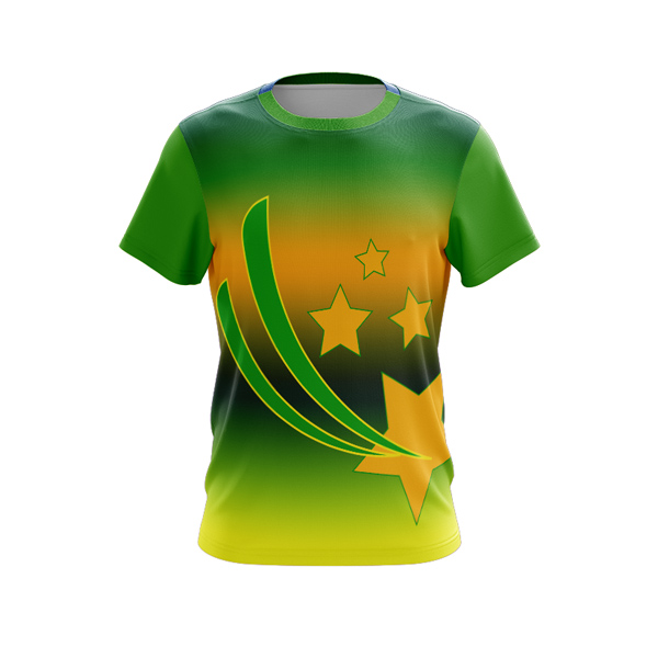 Sublimated T-shirts Aussie Green and Gold