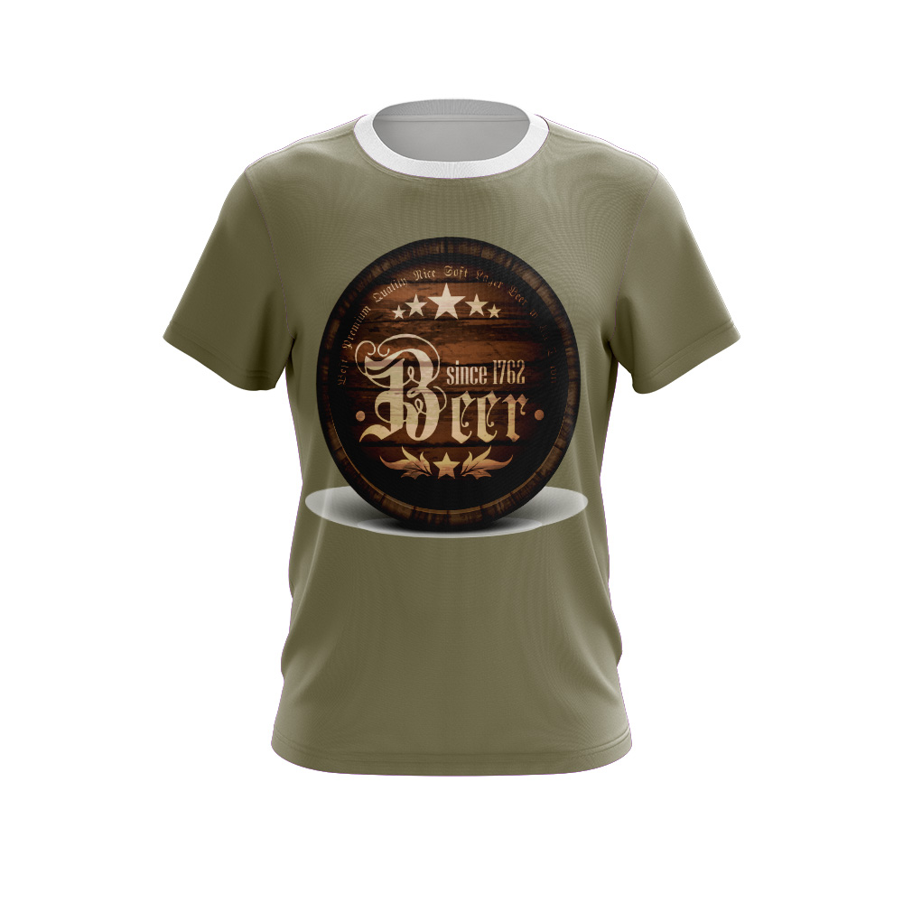 Fully Dye Sublimation T-shirt Beer Barrel;