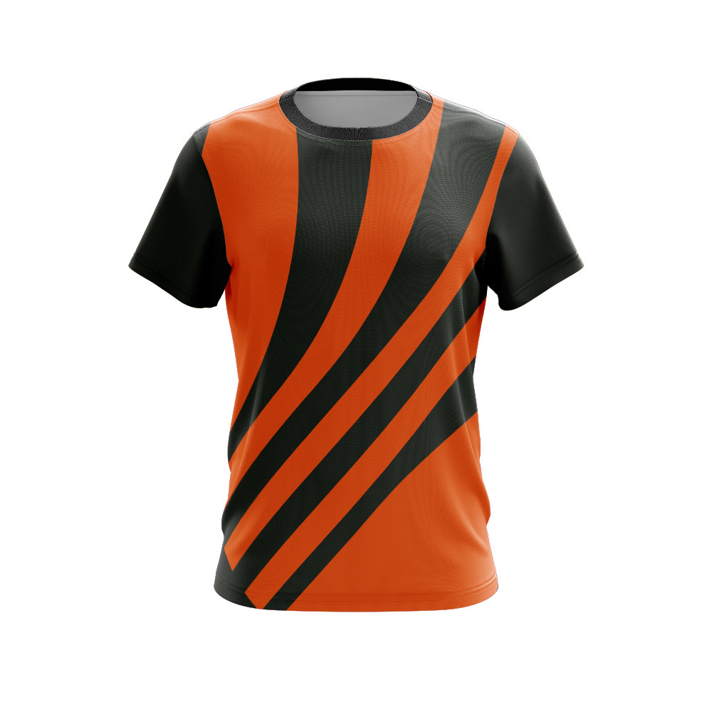 Fully Dye Sublimated T-shirt Black Orange