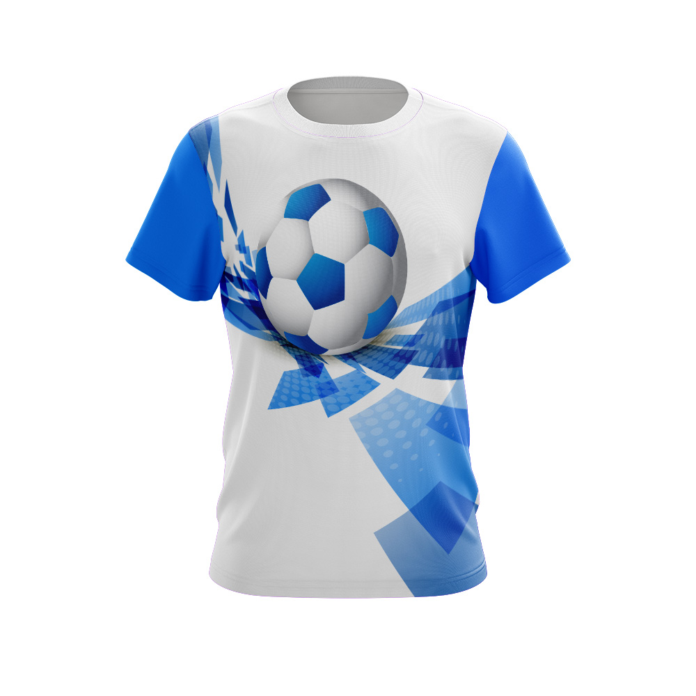 Sublimated T-shirt Soccer Blue