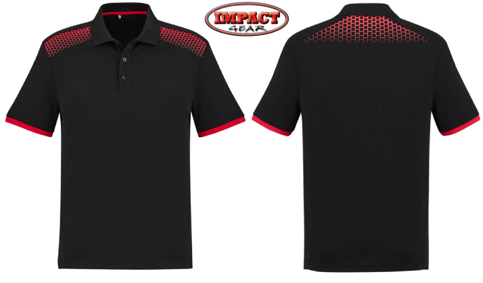 Black / Red Galaxy Polo Shirt