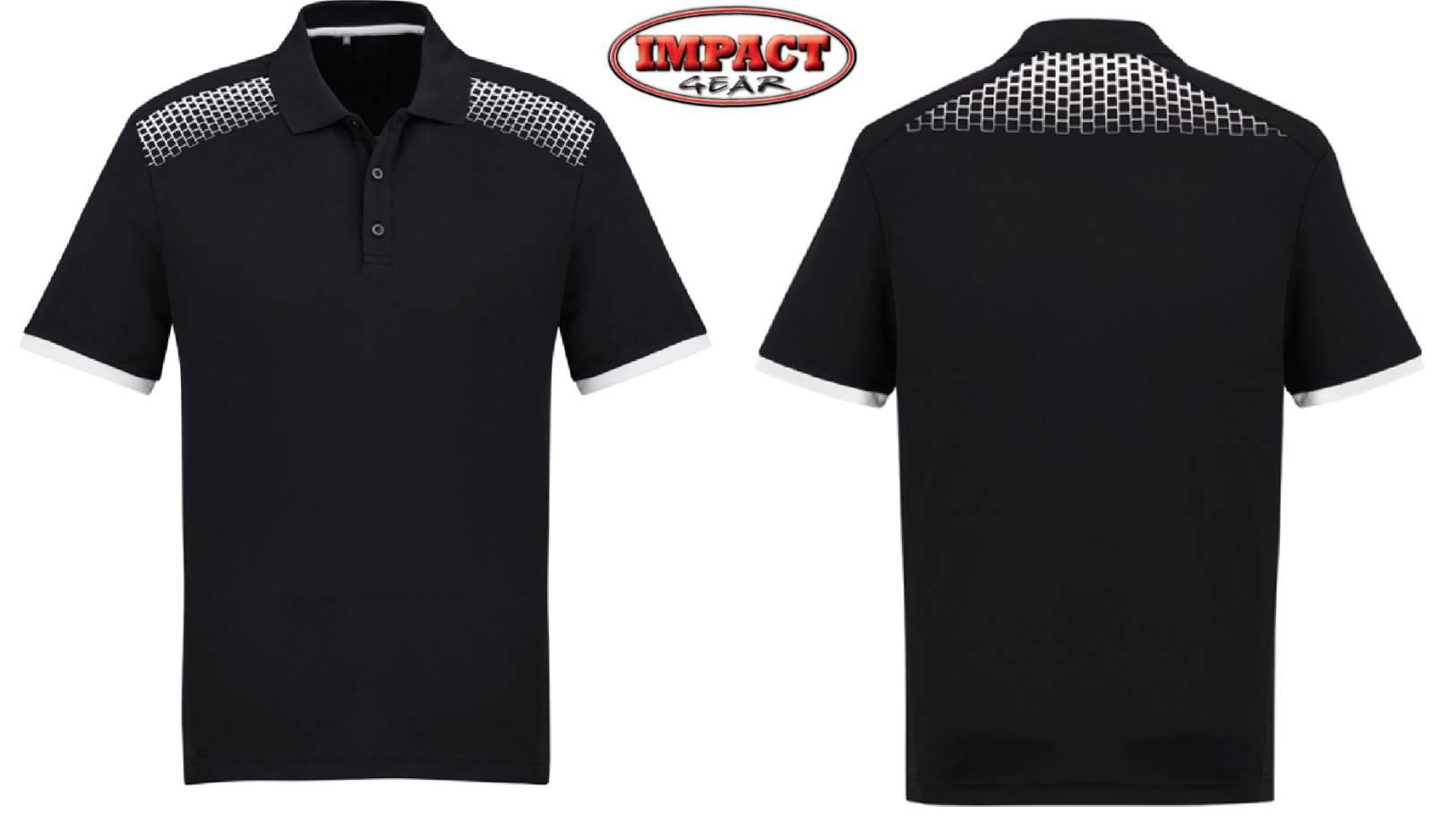 Black / White Galaxy Polo Shirt
