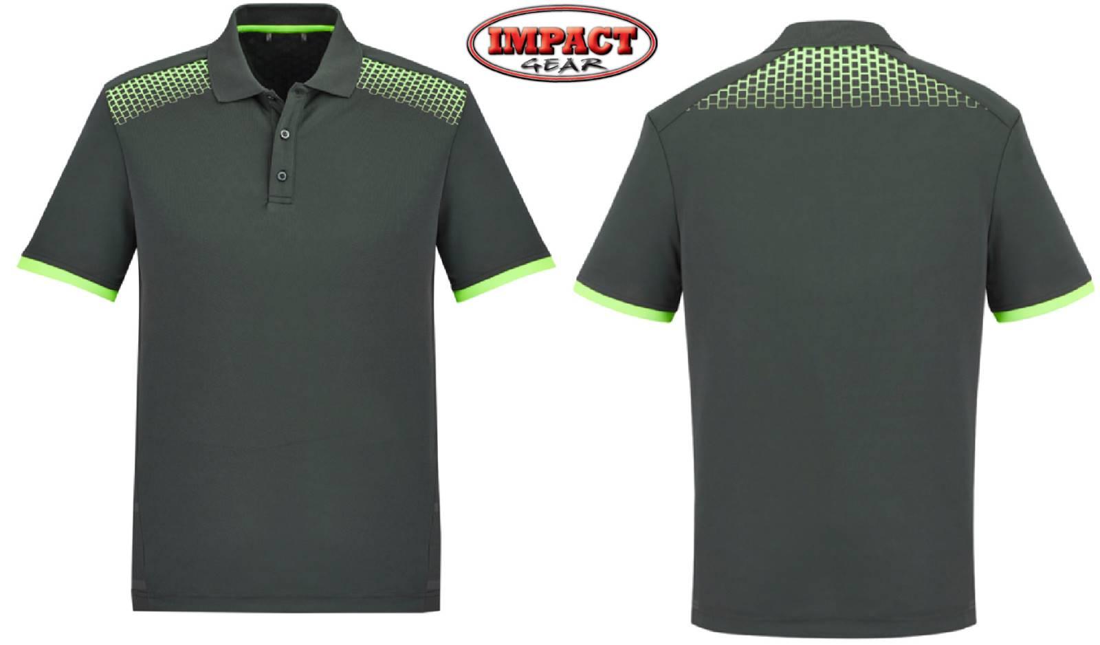 Grey FL Lime Galaxy Polo shirt