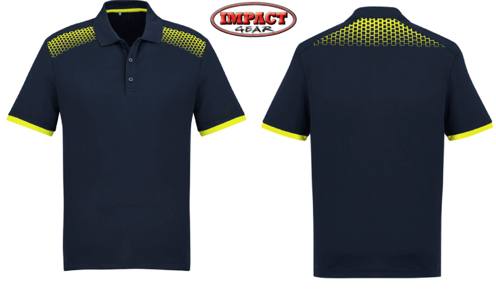 Navy / FL Yellow Galaxy Polo shirts
