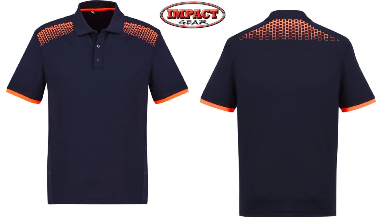 Navy / Orange Galaxy Polo shirt