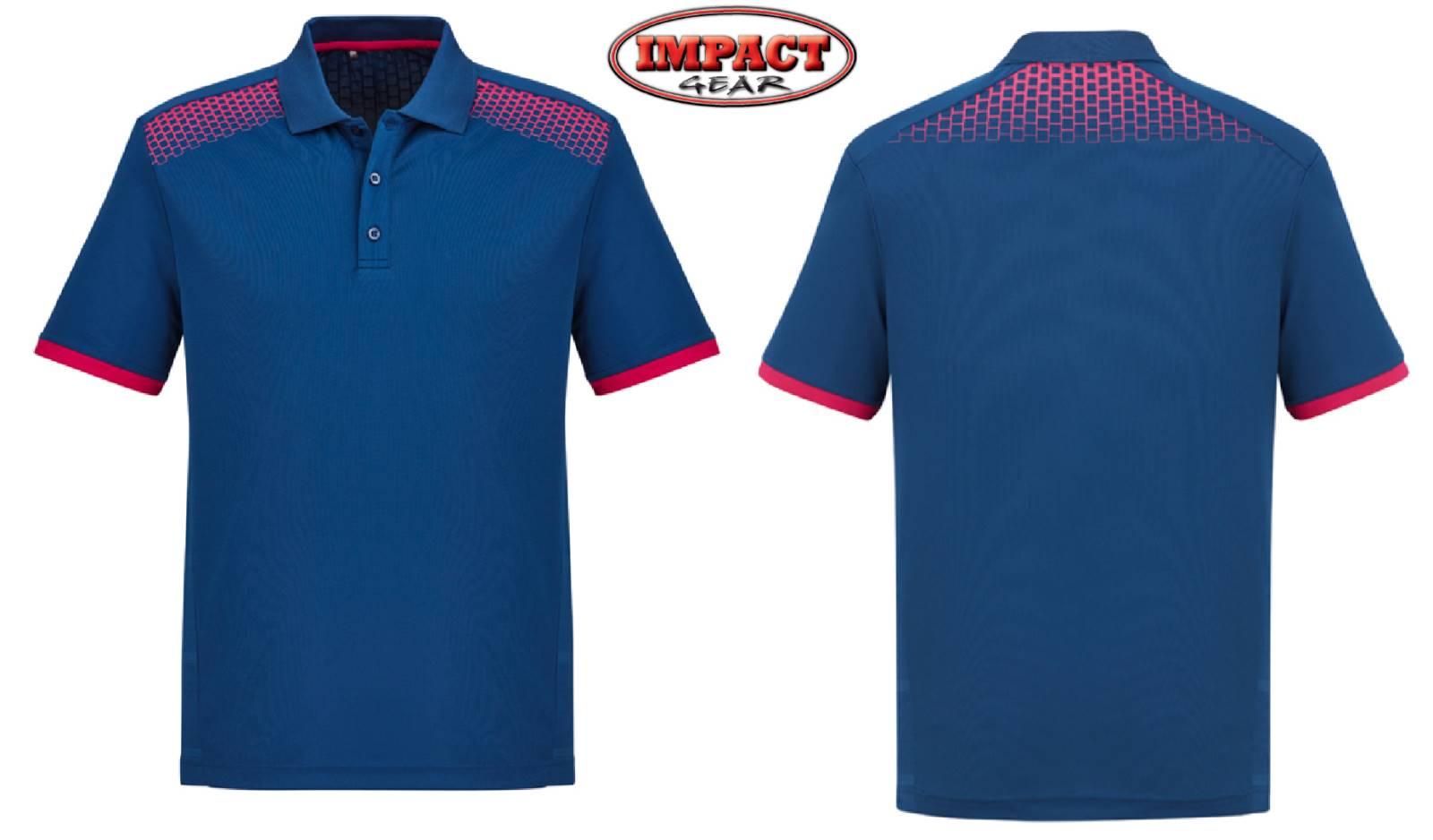 Steel Blue / Magenta Galaxy Polo shirts