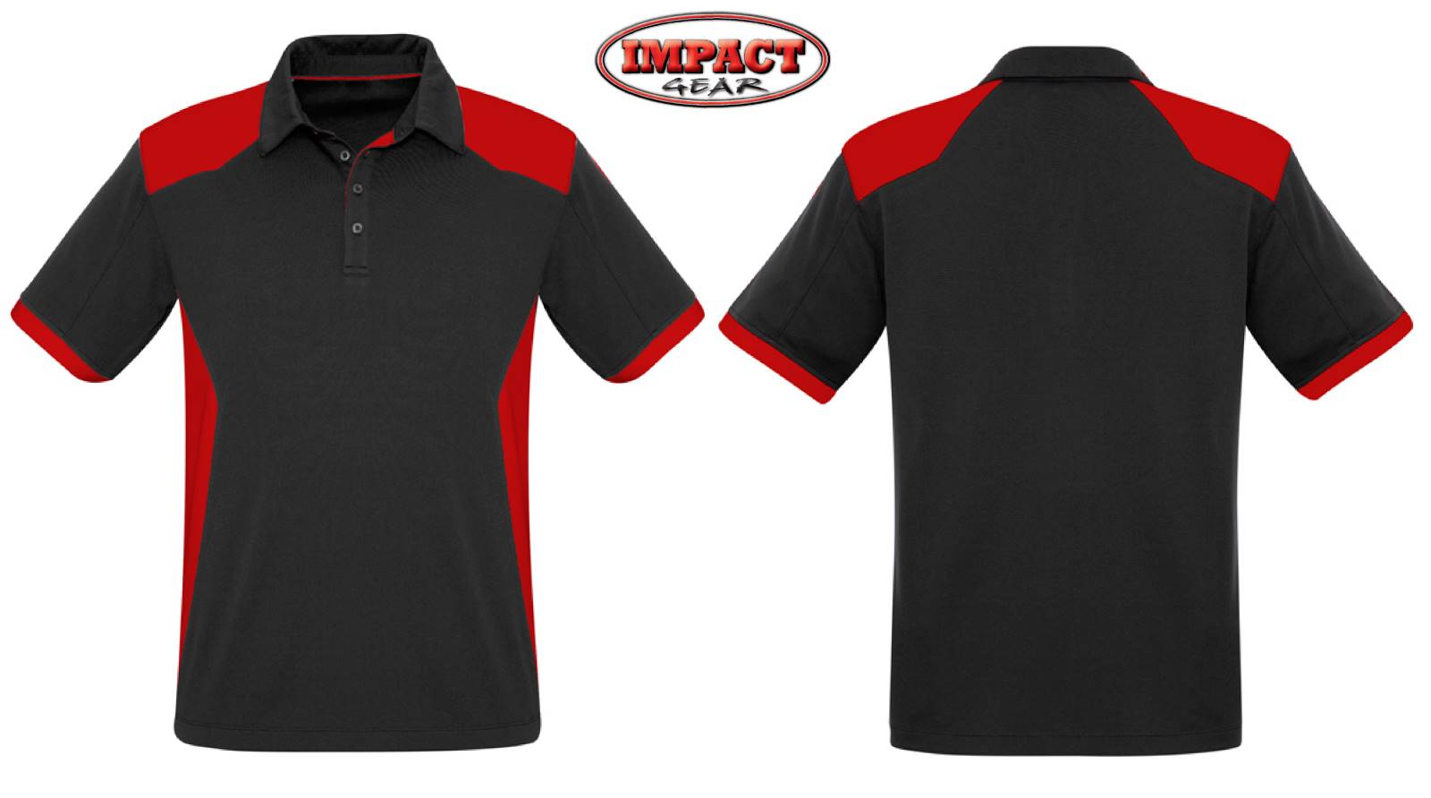 Black / Red Rival Polo Shirt