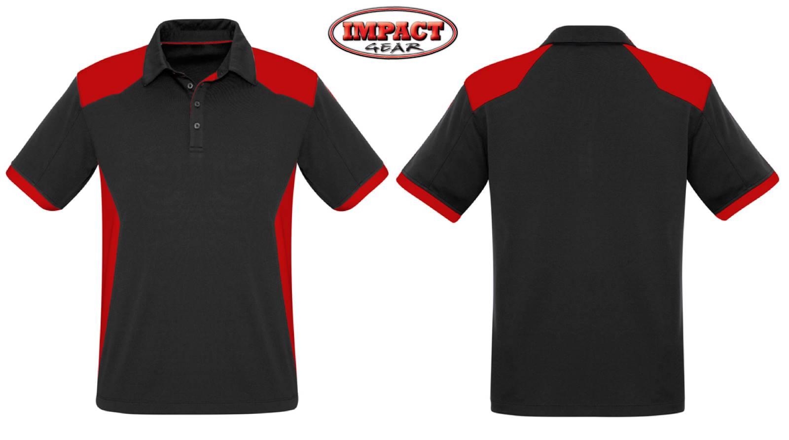 Black / Red Rival Polo Shirt