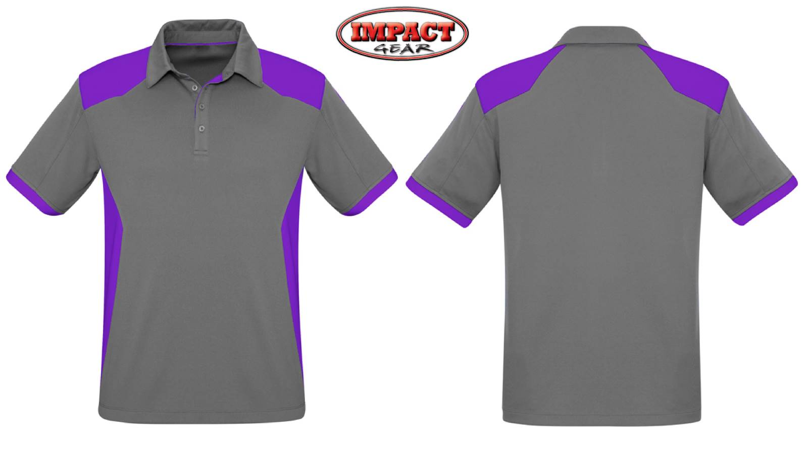 Silver Purple Rival Polo Shirt Mens and Ladies Size Sports polo