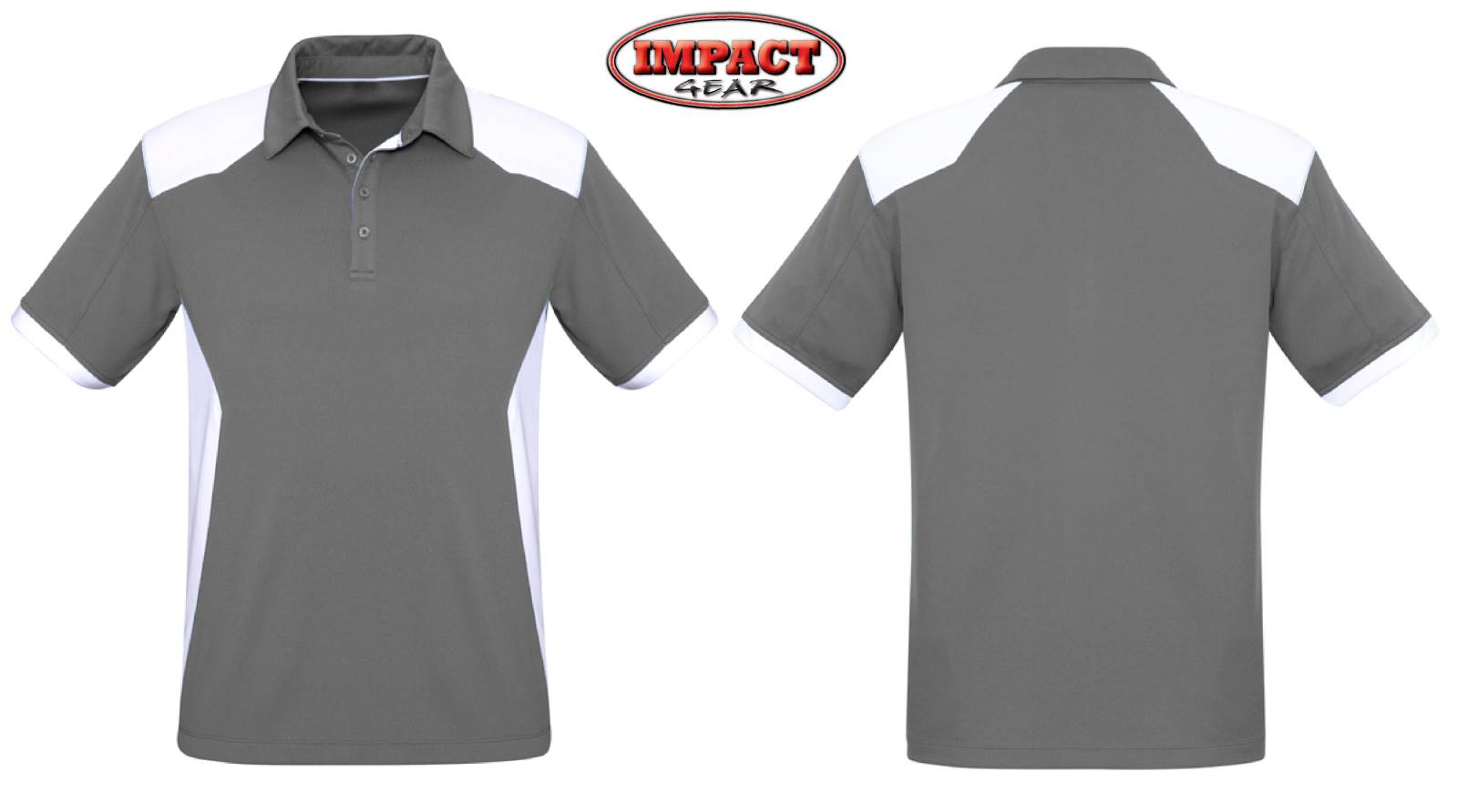 Silver White Rival Polo shirt LIGHT WEIGHT