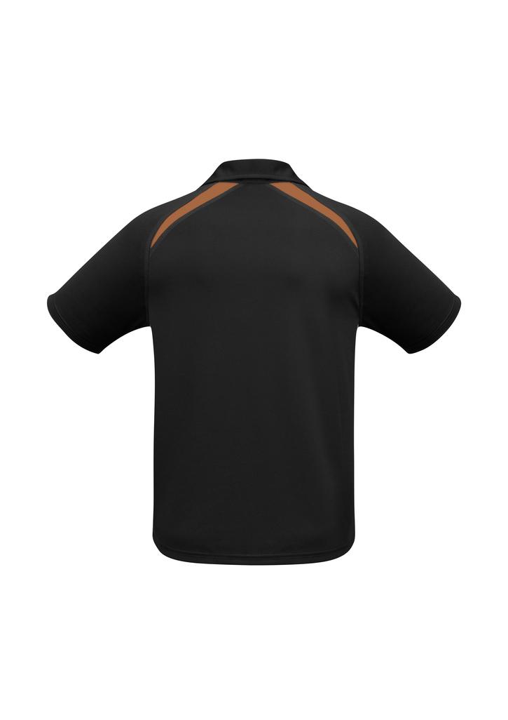 Black Orange Splice Polo shirt BACK