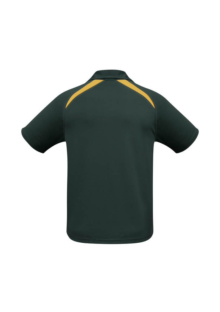 Forest Green Gold Splice Polo shirt  Breathable