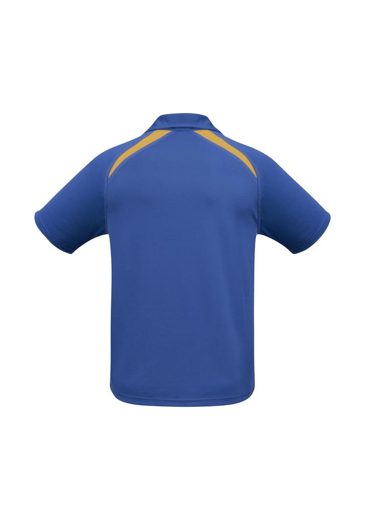 Splice Polo shirt Royal Gold  BACK
