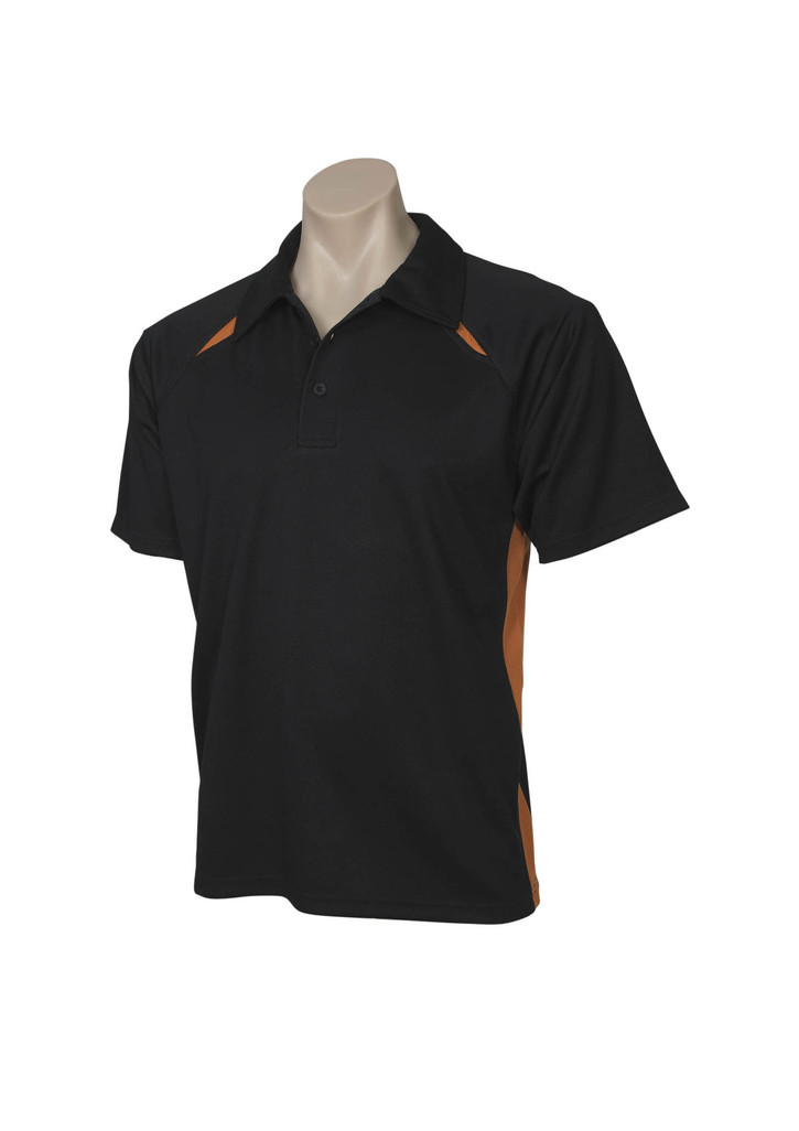 Black Orange Splicel Polo shirt