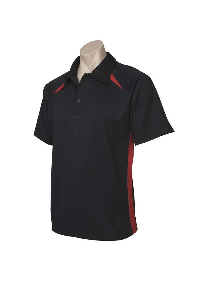 Black Red Splice  Polo shirts