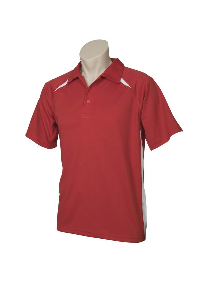 rED wHITE Splice Polo Shirt