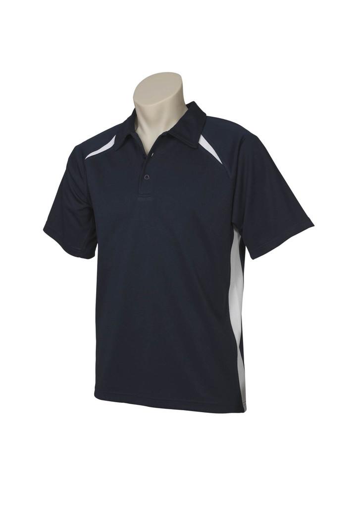 Navy White Splice Polo shirts