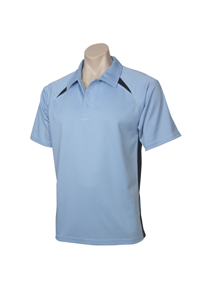 Sky Navy Splice  Polo shirts Mens Kids sizes